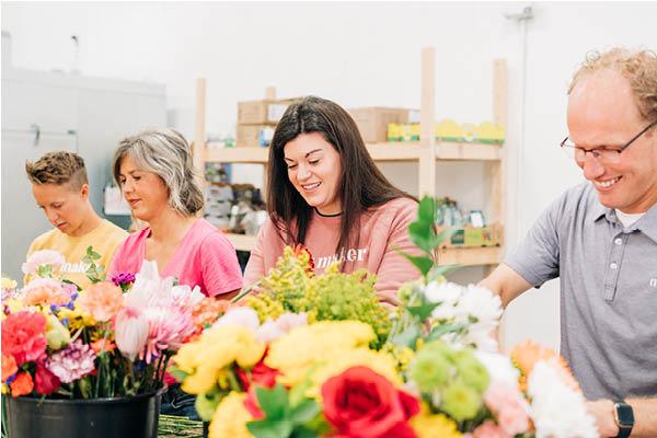 Hope Blooms volunteers